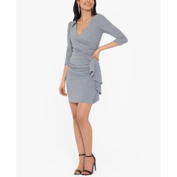 Betsy & Adam Glitter-Knit Sheath Dress