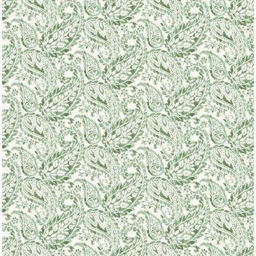Brewster 2657-22211 Adrian Green Paisley Wallpaper