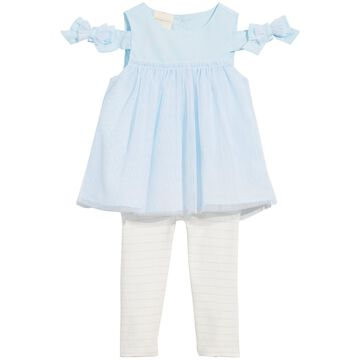 Baby Girls 2-Pc. Tulle Bow Tunic & Leggings Set, Created for Macy's