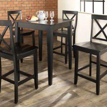 Crosley 5 pc. Pub Dining Set with Tapered Leg, KD520005BK