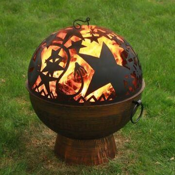 Good Directions Orian 26-Inch Oversized Wood Burning Fire Bowl with Fire Dome