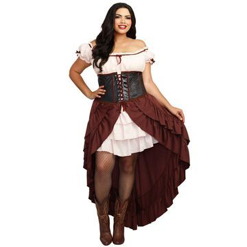 Dreamgirl Saloon Gal Plus Size Costume-2XL