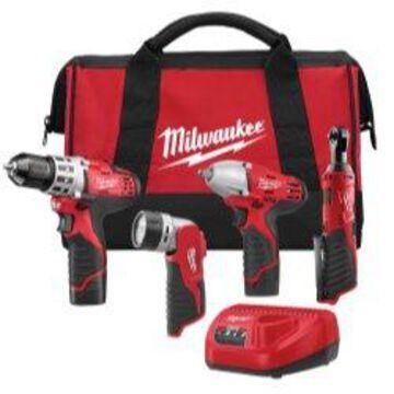 Milwaukee M12 4Pc Automotive Combo Kit