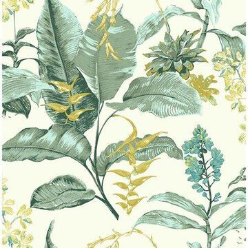 Kenneth James Maui Green Botanical Wallpaper