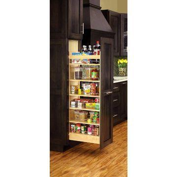 Rev-A-Shelf 5-in W x 59.38-in 1-Tier Wood Cabinet Organizer
