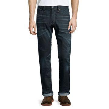 Tapered-Leg Condor Denim Jeans, Dark Blue