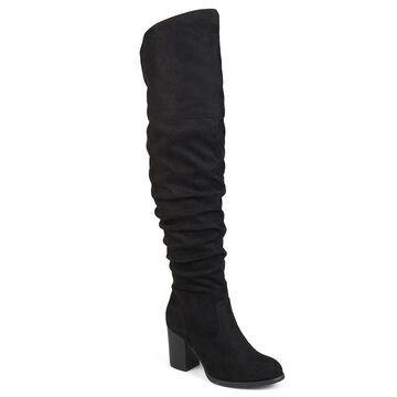 Journee Collection Kaison Women's Tall Boots, Girl's, Size: Medium (7.5), Black
