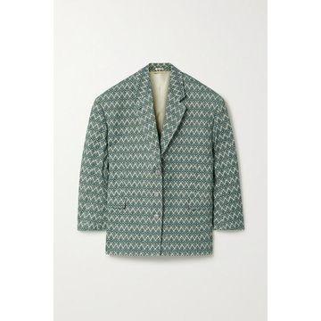 Acne Studios - Oversized Cotton-blend Jacquard Blazer - Green