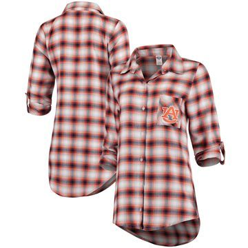 Women's Concepts Sport Navy/Orange Auburn Tigers Forge Rayon Flannel Long Sleeve Button-Up Shirt