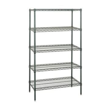 Quantum Storage Systems Wire Shelving 5 Shelf Starter Units in Proform Finish 12