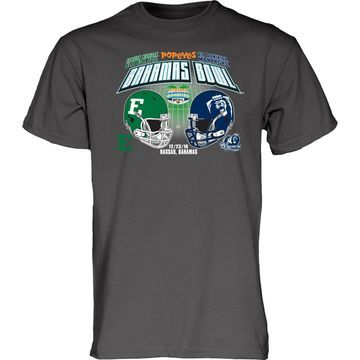 Eastern Michigan Eagles vs. Old Dominion Monarchs Blue 84 2016 Bahamas Bowl Dueling T-Shirt - Charcoal