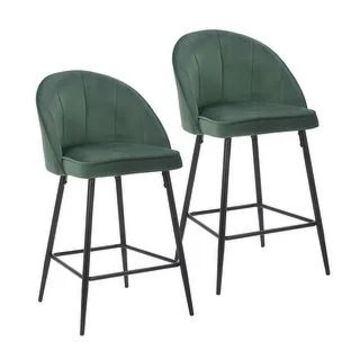Porthos Home Freya Velvet and Metal Counter Height Chairs (Set of 2)
