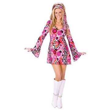 Fun World 32599 Feelin Groovy Adult Halloween Costume Size Small-Medium
