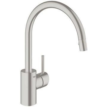 GROHE Concetto Supersteel Single Lever Kitchen Faucet