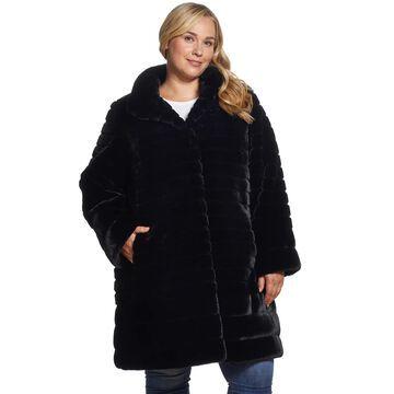 Women's Gallery Grooved Faux Fur Jacket