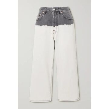 Givenchy - Tie-dyed High-rise Wide-leg Jeans - White