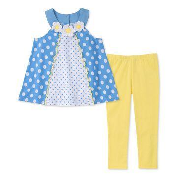 Baby Girls 2-Pc. Dot-Print Tunic & Leggings Set