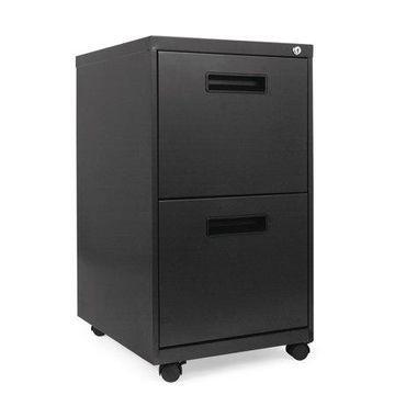 Alera 2 Drawers Vertical Lockable Filing Cabinet, Charcoal