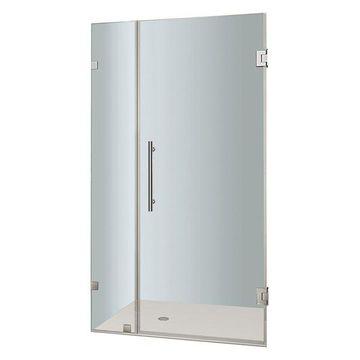 Aston Nautis Completely Frameless Hinged Shower Door, Chrome, 34