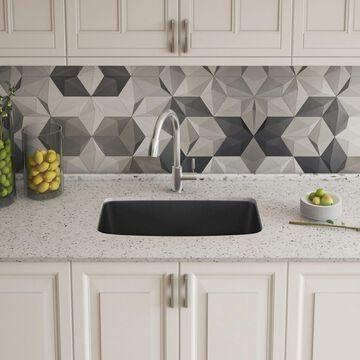 BLANCO Valea Undermount 27-in x 18-in Anthracite (Black) Single Bowl Kitchen Sink   442552