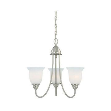 Vaxcel Lighting Concord 3 Light Single Tier Chandelier with Etched Glass Shades
