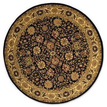 Rugs America New Vision Tabriz 5'3 Round Area Rug in Black