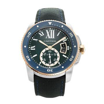 Cartier Men's W2CA0008 'Calibre De Cartier' Blue Leather Watch