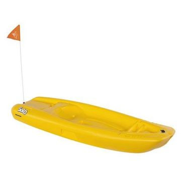 Pelican Solo 6' Sit-On-Top Youth Kayak with Kayak Accessories, Paddle and Safety Flag