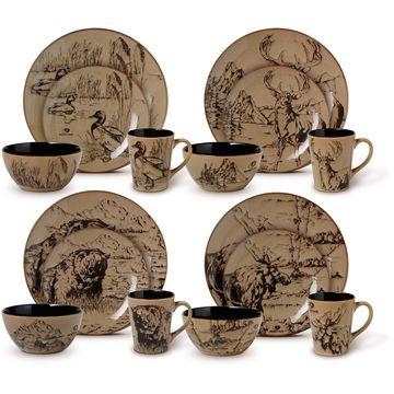 Mossy Oak 16-piece Assorted Dinnerware Set