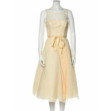 Scoop Neck Knee-Length Dress