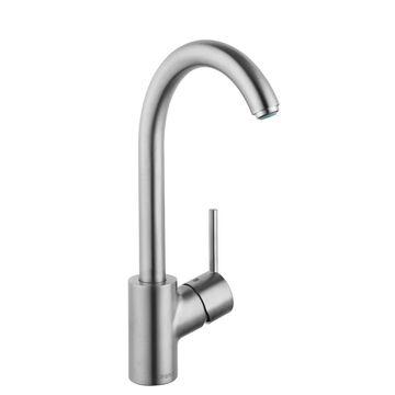 Hansgrohe Talis S Steel Optik 1-Handle Deck-Mount High-Arc Handle Kitchen Faucet