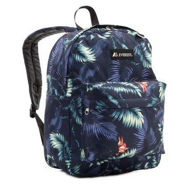 Classic Pattern Backpack, Dark Tropic, One Size