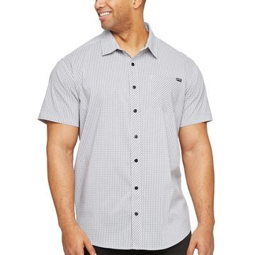 Zoo York Big and Tall Mens Short Sleeve Plaid Button-Front Shirt