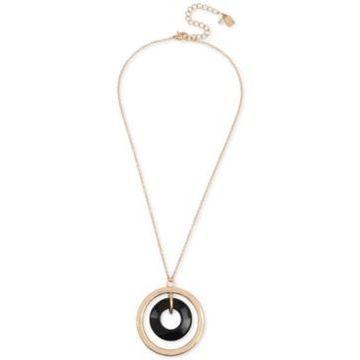 Robert Lee Morris Soho Gold-Tone Orbital Pendant Necklace, 18