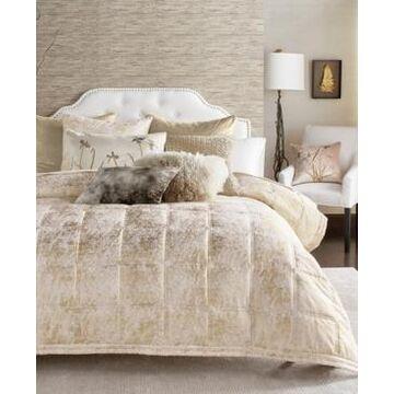 Michael Aram Metallic Textured Coverlet Queen Quilt Bedding