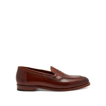 Grenson - Lloyd Leather Penny Loafers - Mens - Tan