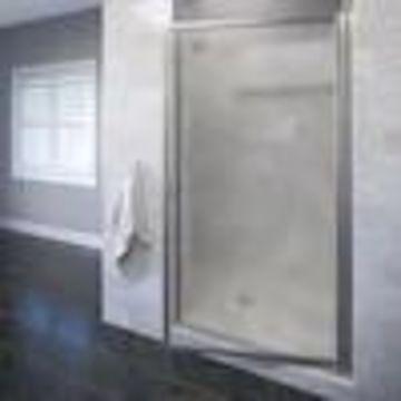 Basco Sopora 24.75-in to 26.5-in W Framed Pivot Brushed Nickel Shower Door