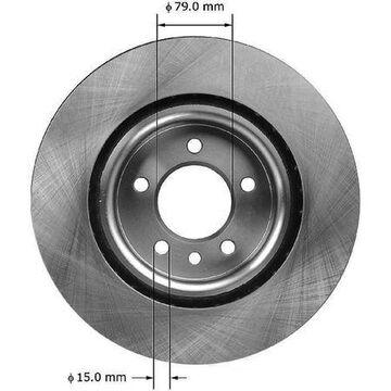 Front Brake Rotor, PRT5967