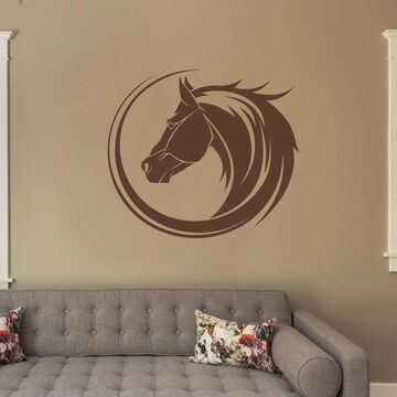 Style and Apply Horse Bust Wall Decal