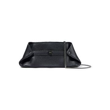 Akris Pebbled-leather Clutch