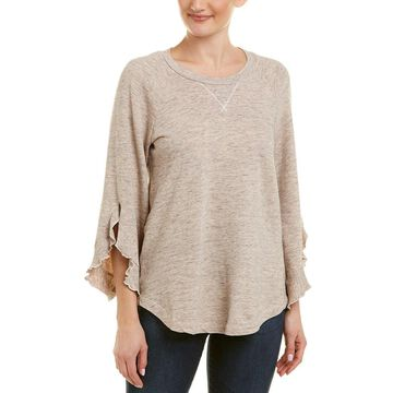 Ella Moss Womens Ruffle Sweatshirt