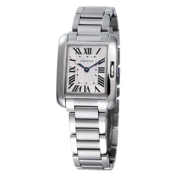 Cartier Men's Tank Anglaise Rectangle Silver-Tone Bracelet Watch (Cartier Men's Tank Anglaise Watch)