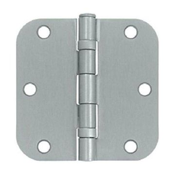 Deltana Radius Hinge Residential Thickness Steel Brushed Chrome, 3.5
