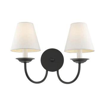 Livex Lighting Mendham 2 Light Black Wall Sconce