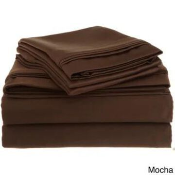 Superior Egyptian Cotton 1500 Thread Count Solid Bed Sheet Set (King - Mocha)
