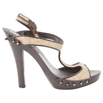 Manolo Blahnik Beige Leather Heels
