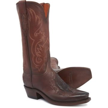 Lucchese Beatrice Cowboy Boots - Cowhide Leather, Snip Toe (For Women)