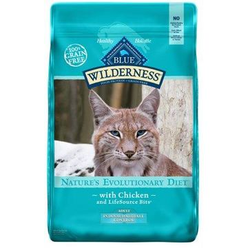 Blue Buffalo Wilderness Chicken Adult Hairball Control High Protein Cat Food, 11-lb