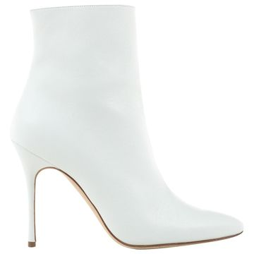 Manolo Blahnik White Leather Boots