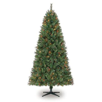 7Ft Pre-Lit Willow Pine Artificial Christmas Tree, Multicolor Lights by Ashland   Michaels
